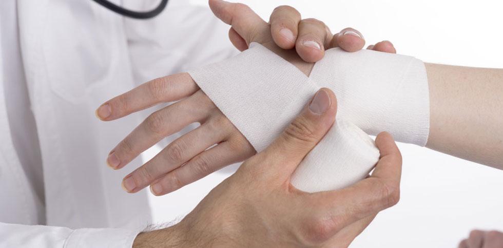 درمان شکستگی مچ دست