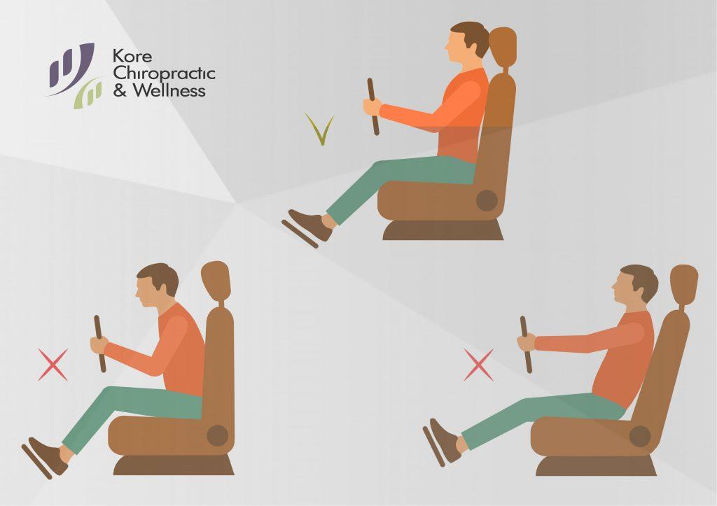 روش صحیح نشستن در ماشین