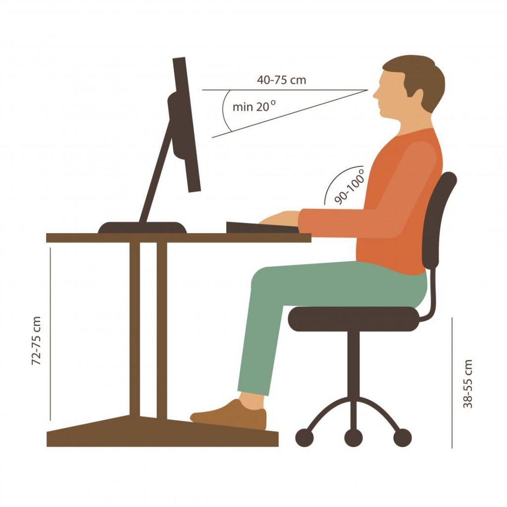 وضعیت مناسب بدن هنگام کار