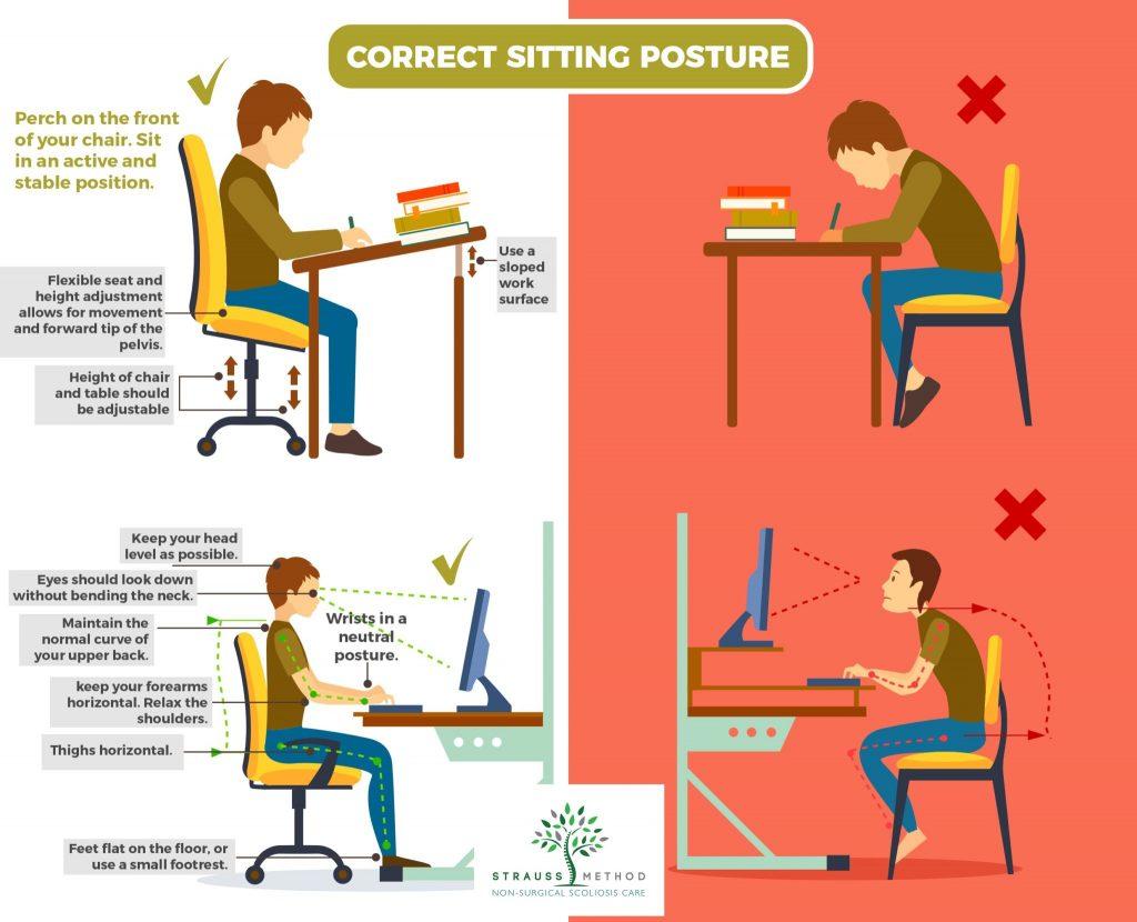روش صحیح نشستن پشت میز هنگام مطالعه