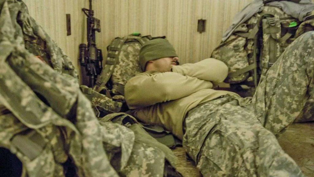 خوابیدن سریع با متد نظامی