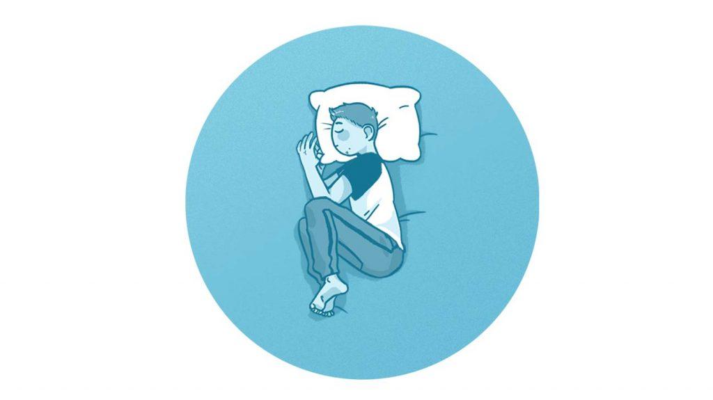 خوابیدن به پهلو در وضعیت جنینی